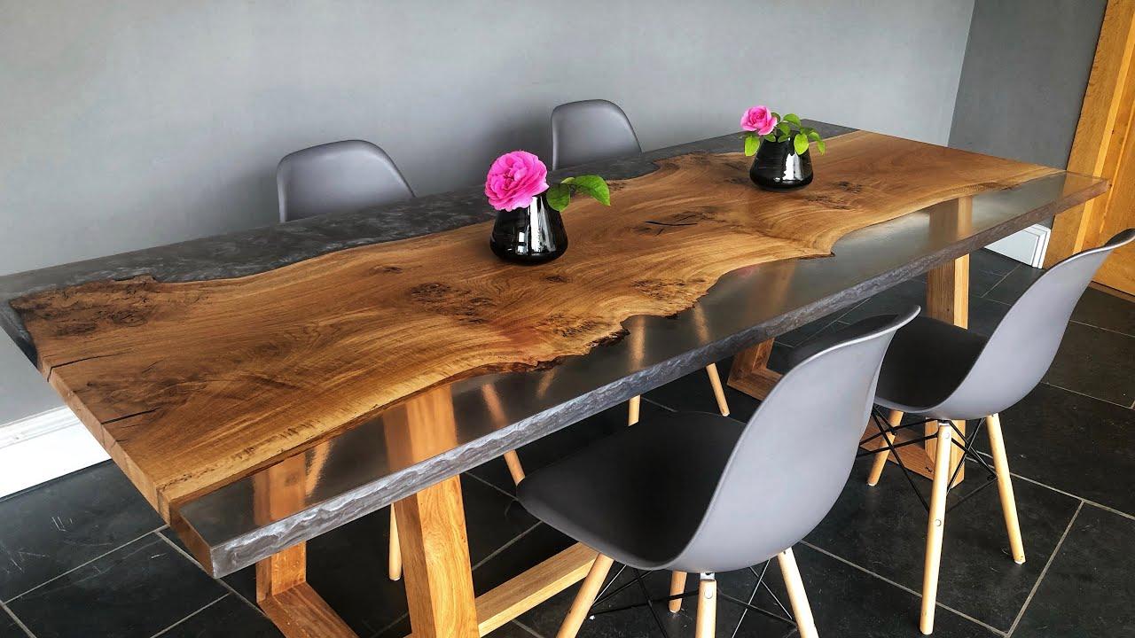 Metallic Epoxy dining table Leitrim