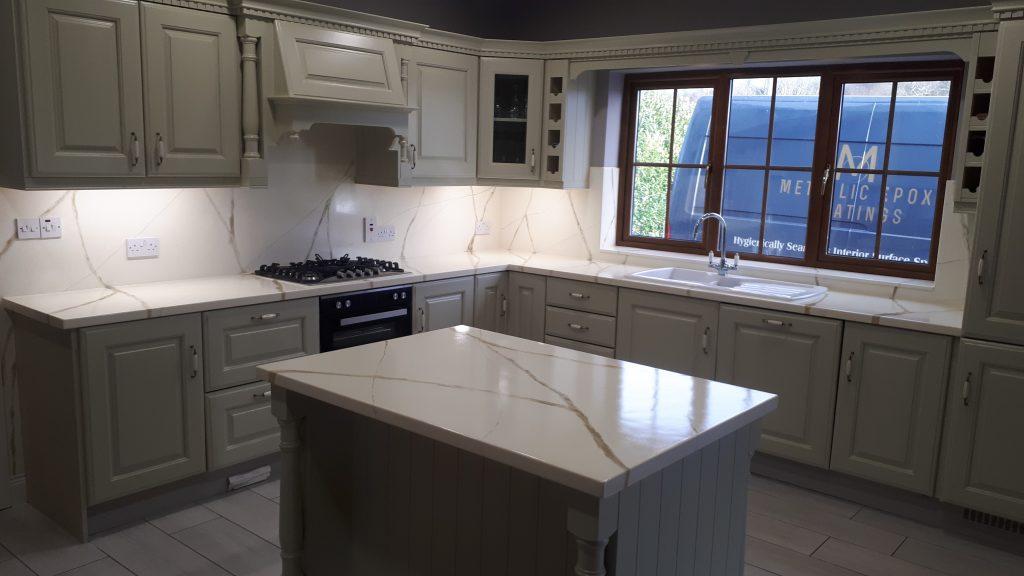 Eepoxy resin cream kitchen